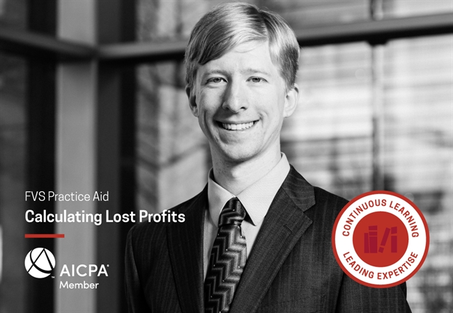 Alexander Walther Co-Authors AICPA Calculating Lost Profits Practice Aid