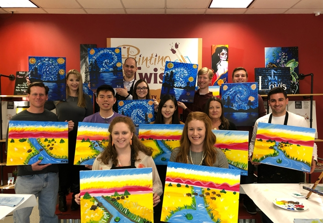 Creative Journey Continues for Houston Office at Painting with a Twist